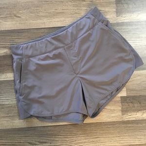 Athleta gray shorts size 4